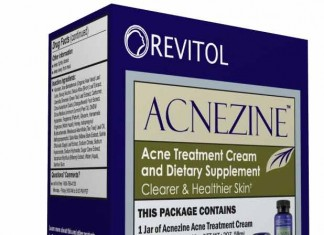 acnezine product packaging.
