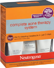 Neutrogena Complete Glycolic Acid Acne Kit