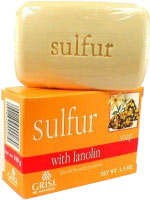 Grisi sulfur best acne soap.