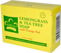 Lemon grass and tea tree bar. Best acne soap from Nubian Heritage.