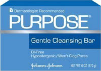 Best acne soap from Johnson and Johnson -- Purpose cleansing bar.
