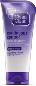 clean and clear continuous control best acne cleanser