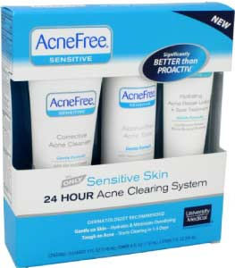 acnefree sensitive acne treatment product