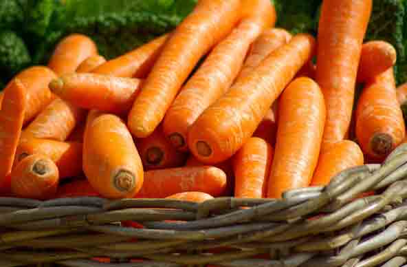 carrots for fighting acne