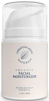 Organic Facial Moisturizer for Acne Prone Skin By Christina Moss Naturals.