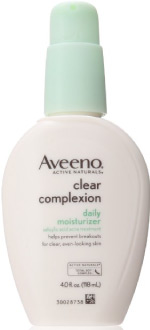 aveeno clear best face moisturizer for acne prone skin