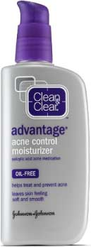 clean n clear advantage oil free moisturizer for acne prone skin
