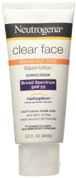 Neutrogena Clear Face Lotion acne Sunscreen