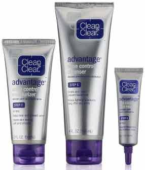 Clean and Clear Advantage Salicylic Acid Acne Control Kit