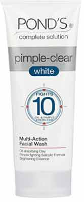 Ponds Pimple Clear White Multi Action Facewash and Scrub