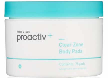 proactiv clearzone body acne pads for bacne treatment