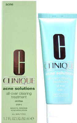 Clinique Acne Solutions Clearing All Over Clearing Facial Treatment Oil Free