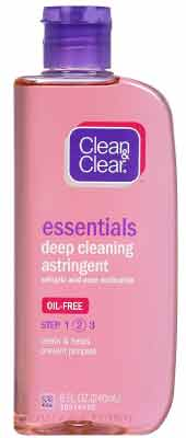 Clean & Clear Brand's Essentials Deep Cleaning Astringent For Acne