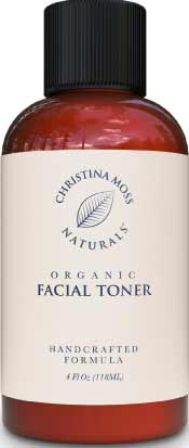 Organic Facial Toner for Acne Prone Skin by Christina Moss Naturals