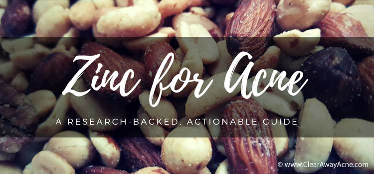Nuts are a good source of zinc for treating acne
