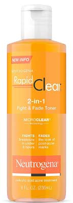 Neutrogena Rapid Clear 2 In 1 Fight and Fade Acne Toner