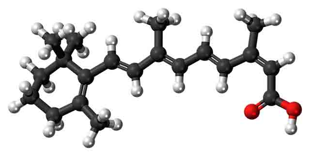 Structural formula of Accutane, a popular severe acne treatment