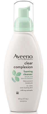 Aveeno Clear Complexion Best Cleanser for Oily Acne Prone Skin
