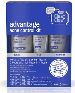 Clean & Clear Advantage Acne Treatment Control Kit for Acne Free Oily Skin